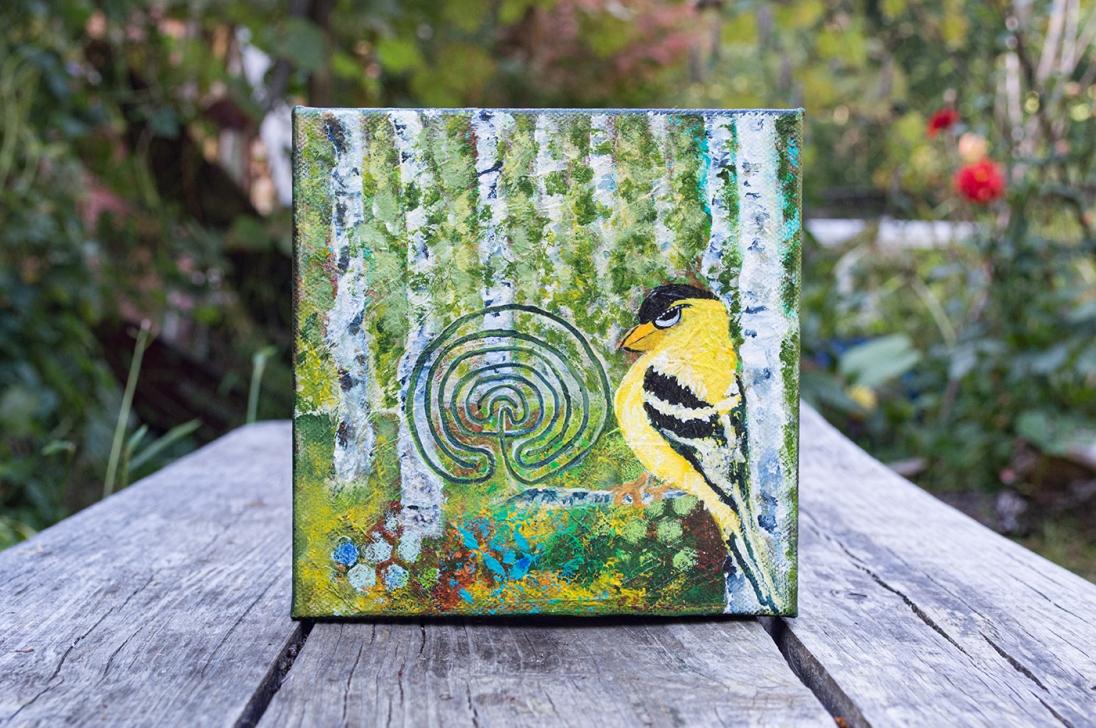 Summer: Goldfinch